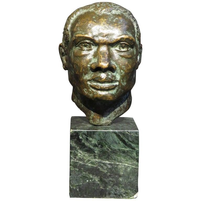 Mid-20th Century Miniature Bronze Bust by Harold Pfeiffer SSC, circa 1960