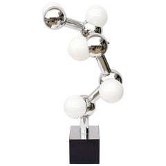 Space Age Chrome Molecule Lamp