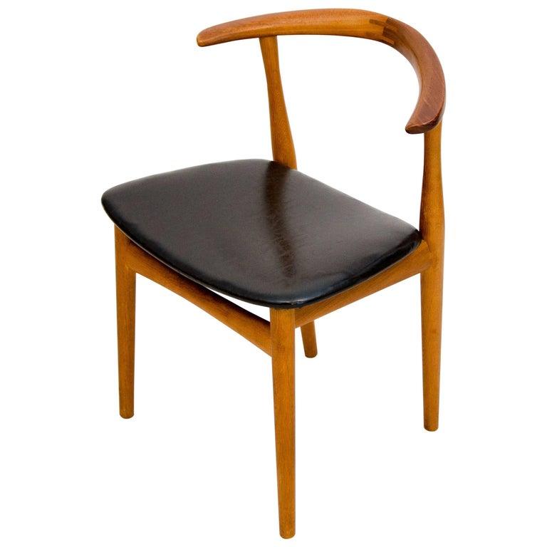 Danish Teak Desk or Occasional Chair by Architekt Kjærnulf for Bruno Hansen