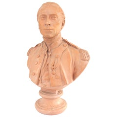 19th Century Painted Plaster Bust of John Paul Jones