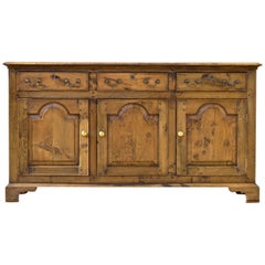 Vintage Welsh Dresser Base of Oak in the 18th Century Style