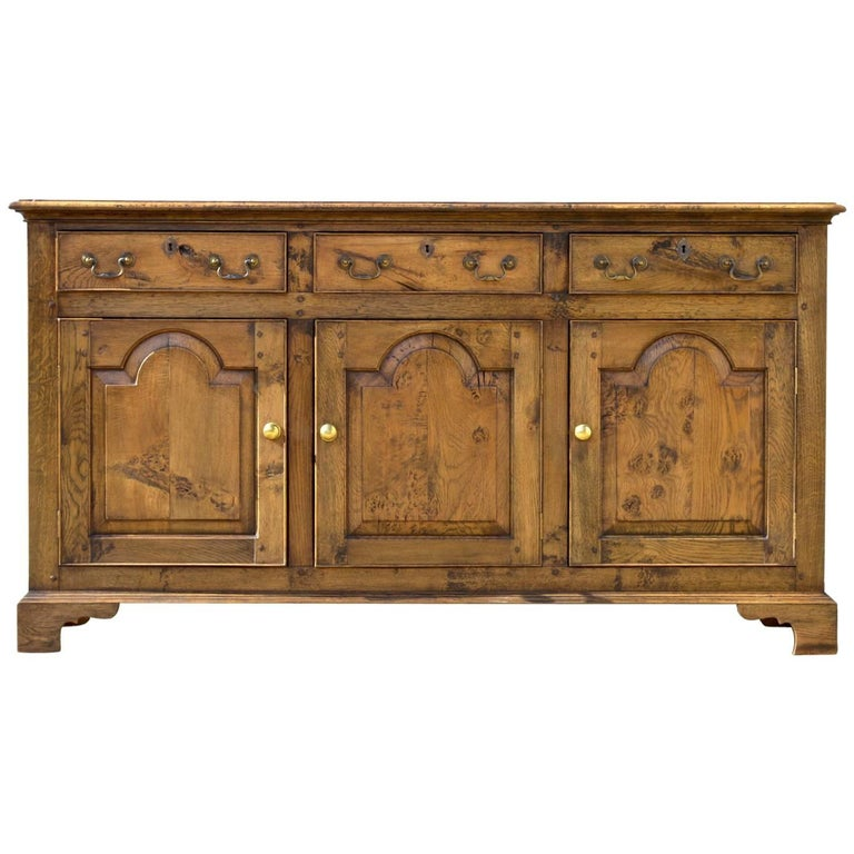 Vintage Welsh Dresser Base of Oak in the 18th Century Style