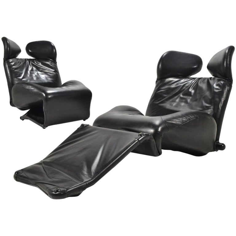 Toshiyuki Kita Wink Lounge Chairs by Cassina For Sale