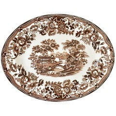 "1940'S Staffordshire Ironstone Oval Serving Platter ""Tonquin"" By Alfred Meakin"
