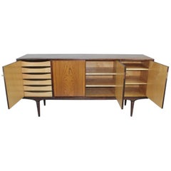 Svante Skogh Swedish, 1960s Sideboard Model Cortina in Rosewood and Brass
