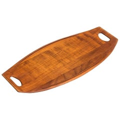 Jens Quistgaard Tray in Teak Produced by Dansk in Denmark