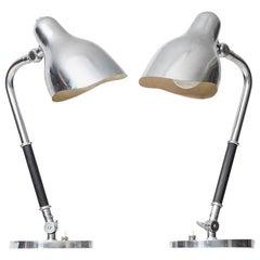 Vilhelm Lauritzen Table Lamps Produced by Louis Poulsen in Denmark