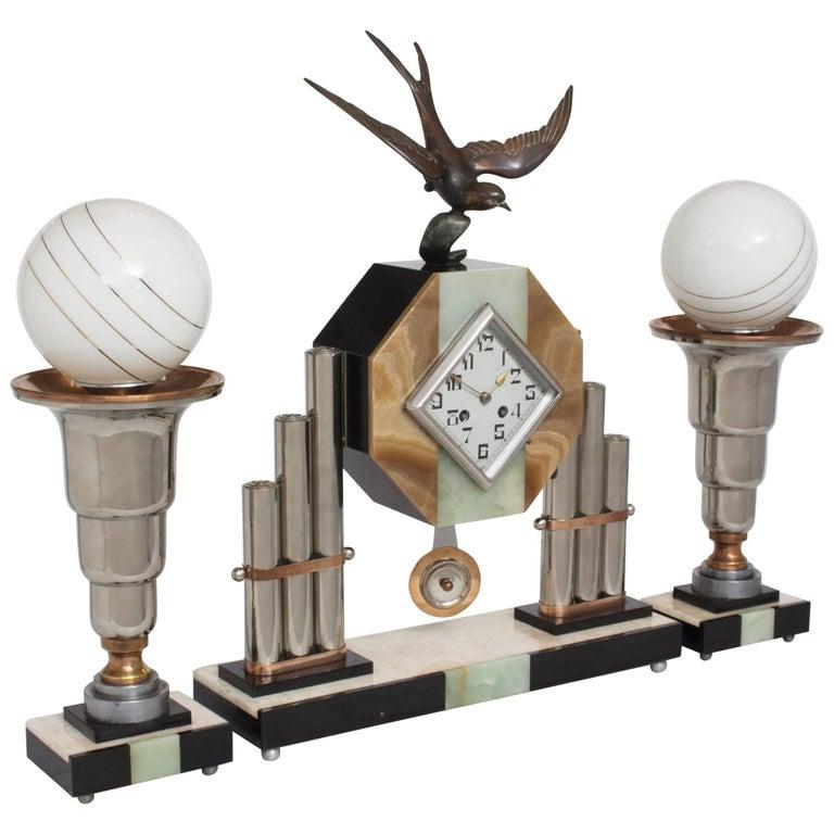 Monumental Art Deco Mantle Clock