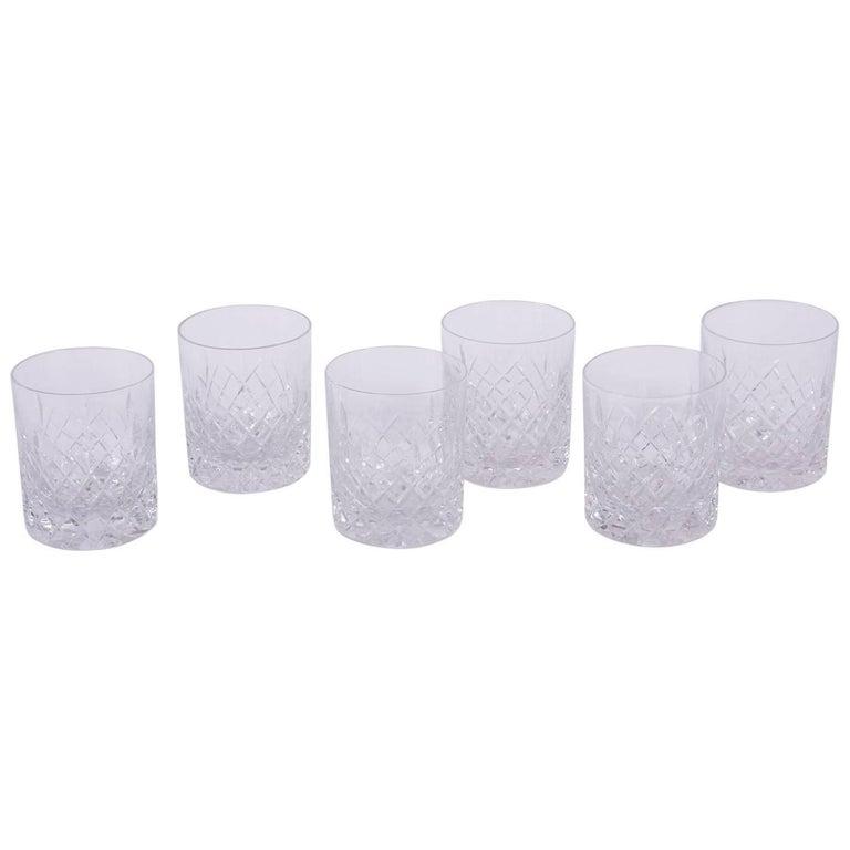 Set of Cut-Glass Tumblers
