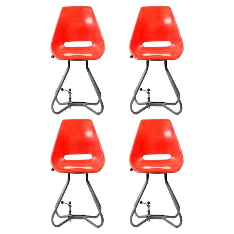 Unique Tram Vertex Chairs by Miroslav Navratil, Czechoslovakia, 1960s