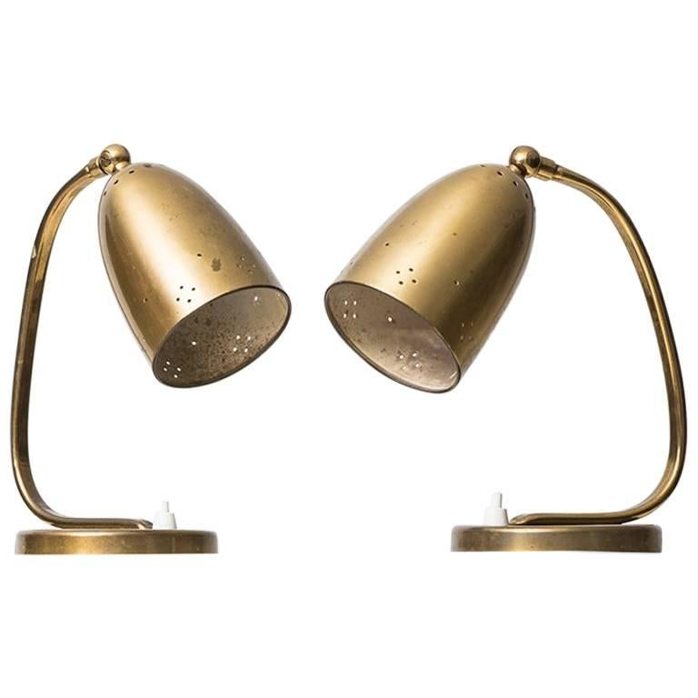 Pair of Table/Wall Lamps Produced in Denmark