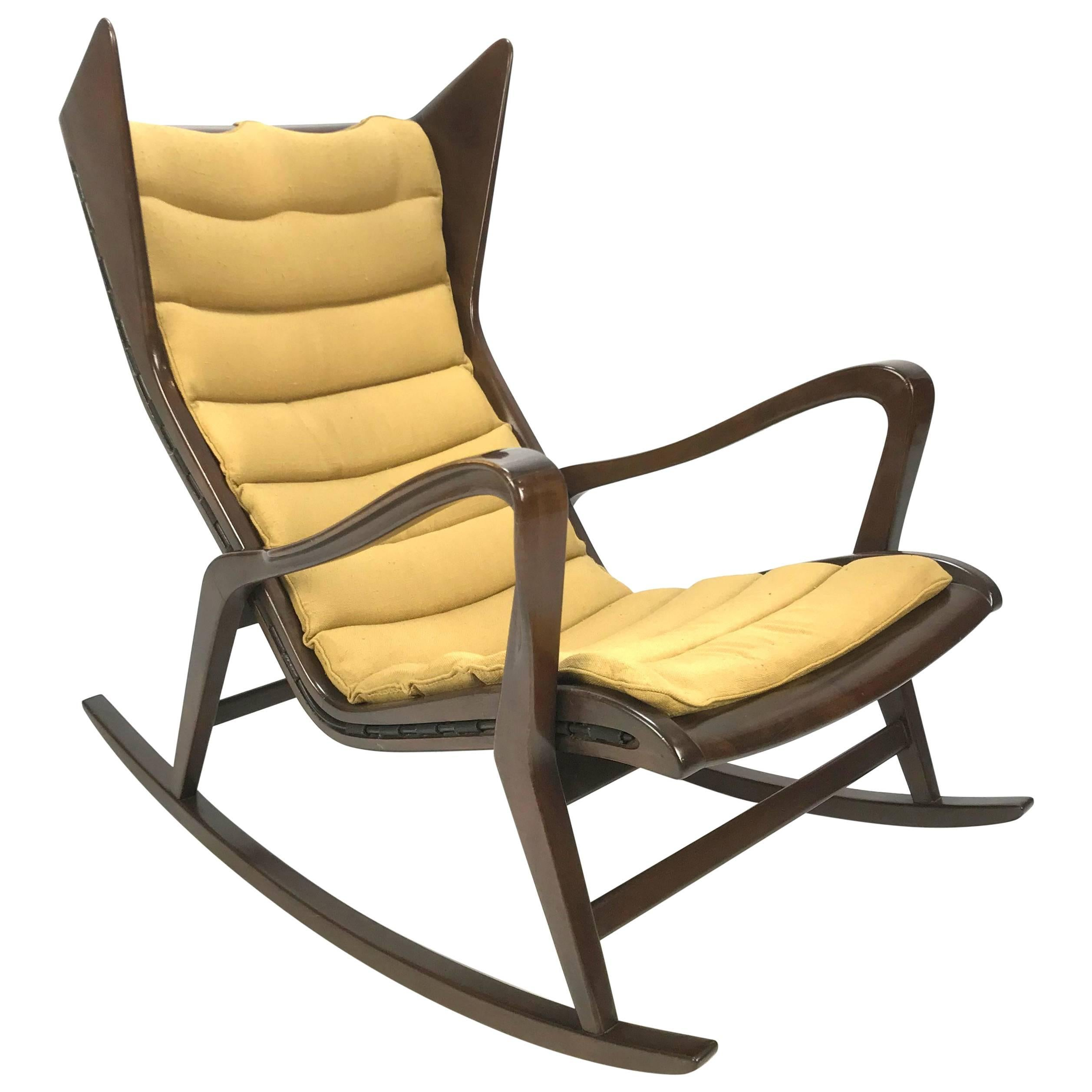 Rocking Chair Model 572 Attributed Gio Ponti