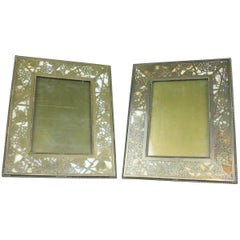 "Tiffany Studios Gilt Bronze and Favrile Glass ""Grapevine"" Photograph Frames"