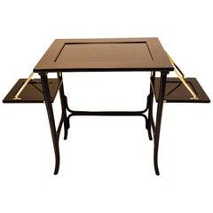 Jugendstil Table with Black Glass