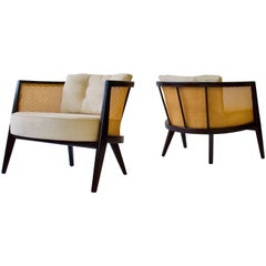 Pair of Harvey Probber Cane Back Lounge Chairs