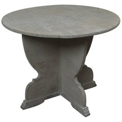 round antique limed oak coffee table in tyrolean style - Distressed Round Coffee Tables