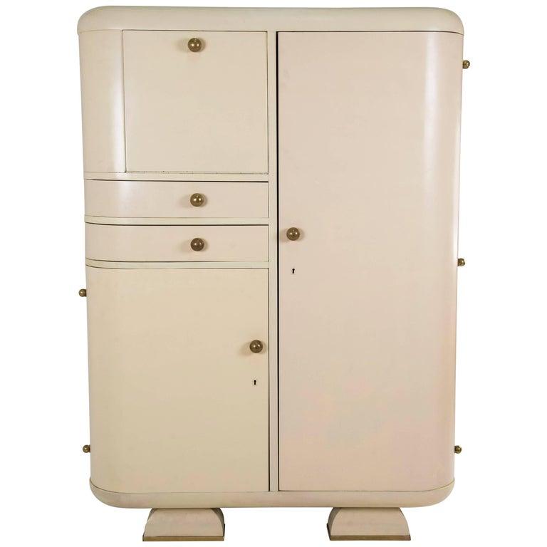 1930s White Wardrobe For Sale