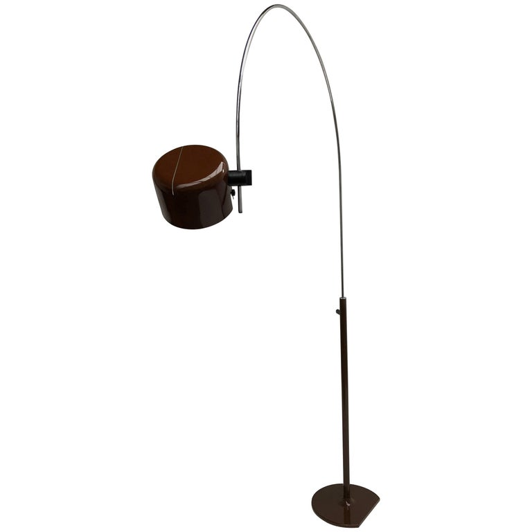 Joe Colombo Extra Large Arched Coupe Floor Lamp by O-Luce, 1970 Production