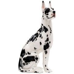 Ceramic Great Dane Dog Sculpture