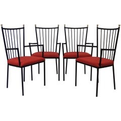 Set of Four Armchairs by Colette Gueden