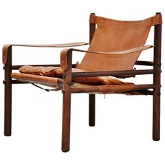 Arne Norell Sirocco Chair in Cognac Leather, Sweden, 1964