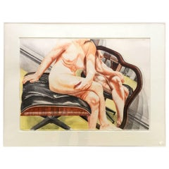 Philip Pearlstein Female Nude Lithograph Eames 671 Ottoman