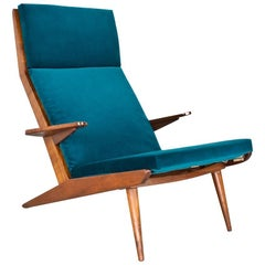 Large Lotus Lounge Chair by Rob Parry 1960s Dutch Design in Teal