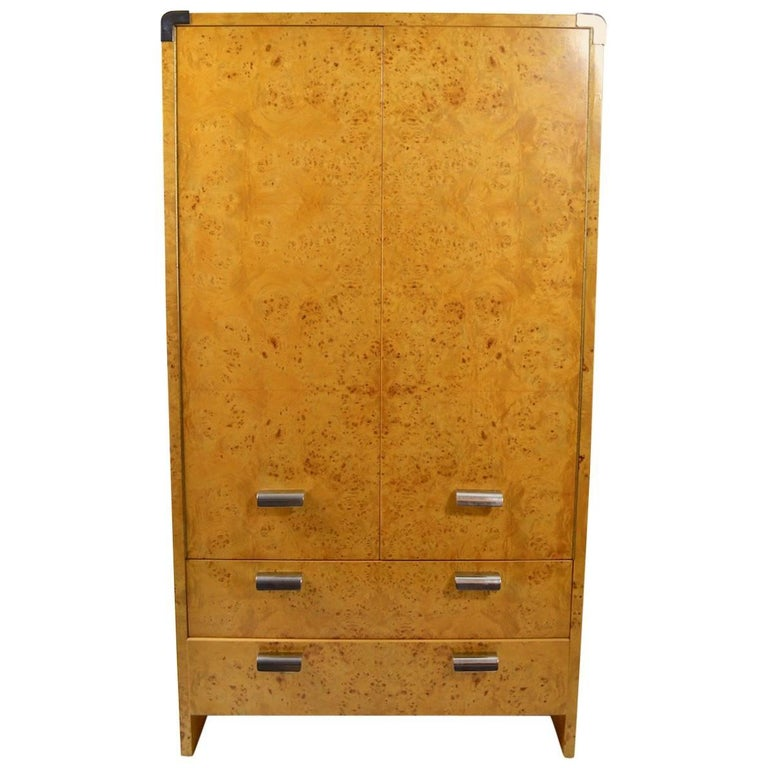 Burl Armoire Designed by Leon Rosen for Pace