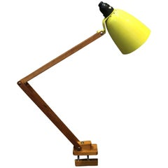 Vintage Midcentury Yellow Maclamp Anglepoise Lamp on Clamp by Terence Conran