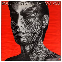 Original Vintage Music Poster Featuring Mick Jagger - Rolling Stones Tattoo You