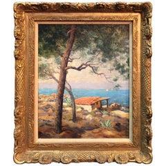 """A Mediterranean Scene"" Vintage Painting Signed"