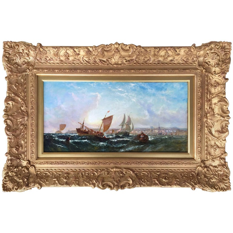 """""""Fishing off the Coast"""" by William Adolphus Knell"""