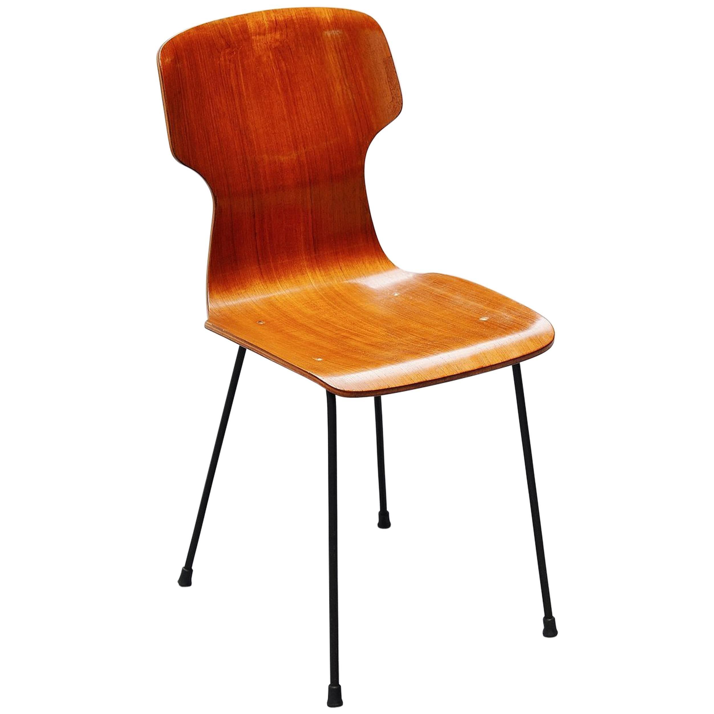 Carlo Ratti Side Chair in Plywood by Legni Curva, Italy, 1950