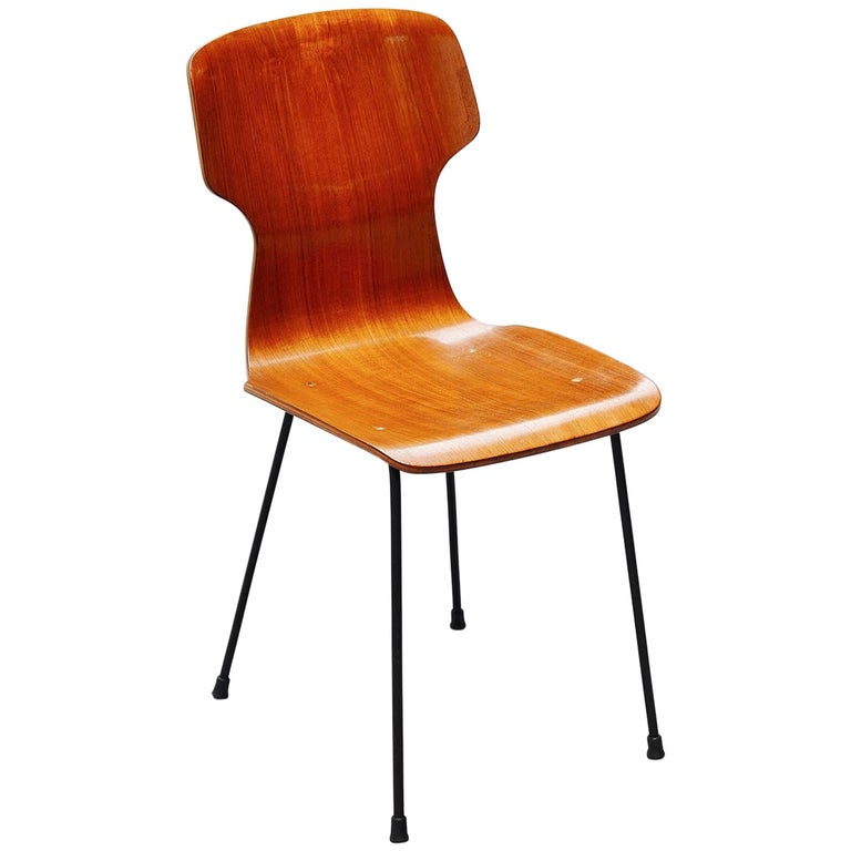 Carlo Ratti Side Chair in Plywood by Legni Curva, Italy, 1950 For Sale