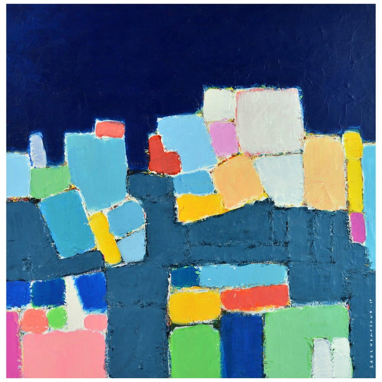 'L'heure Bleu, Cap Haitien' Contemporary Abstract by Lars Hegelund, American 1