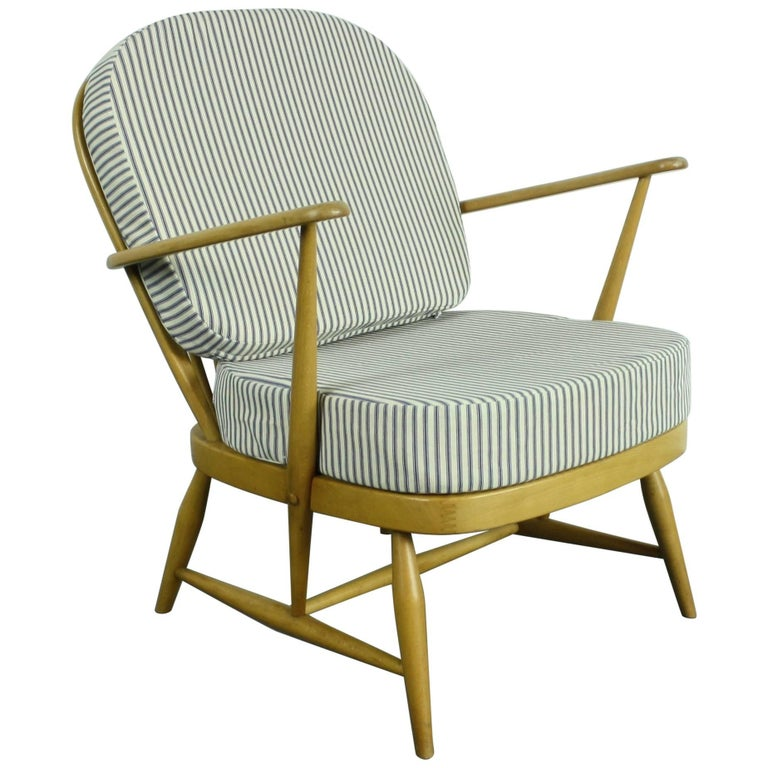 Refurbished Vintage Ercol Windsor Armchair Upholstered in ...