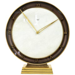 Junghans Meister Art Deco Brass Table Clock, Germany, 1930s