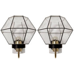 Pair of Rare and Large Modernist Sconces Wall Lamps by Limburg, Germany, 1960s