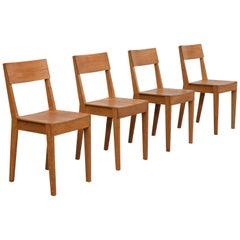 First Edition Piet Hein Eek Beech Dining Chairs