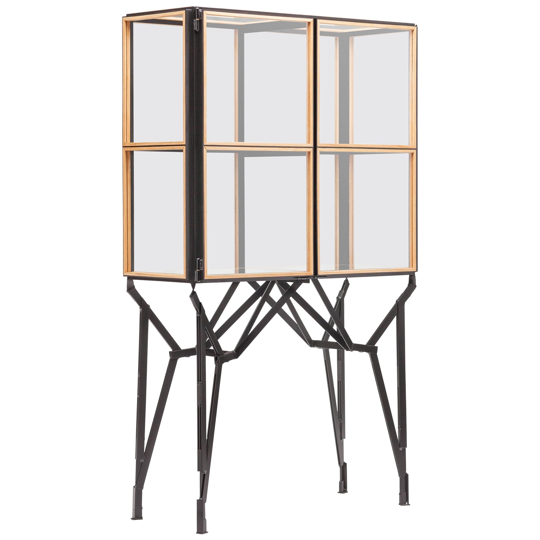 Blk Oak Showcase Cabinet by Paul Heijnen, Handmade in Netherlands
