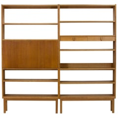 Pair of Blonde Oak Bookcases, Bertil Fridhagen for Bodafors, 1964