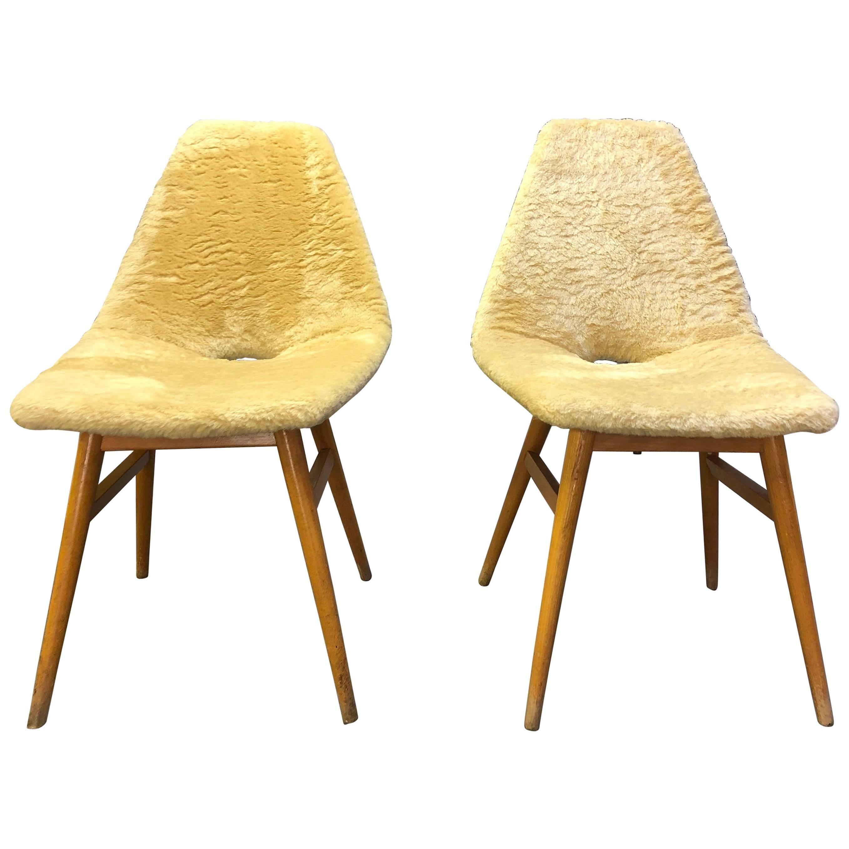 Pair of Side Chairs by Judit Burian & Erika Szek Hungary, circa 1959