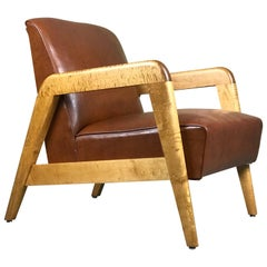 Early Mid-Century Modern Lounge Chair by Russel Wright for Thonet