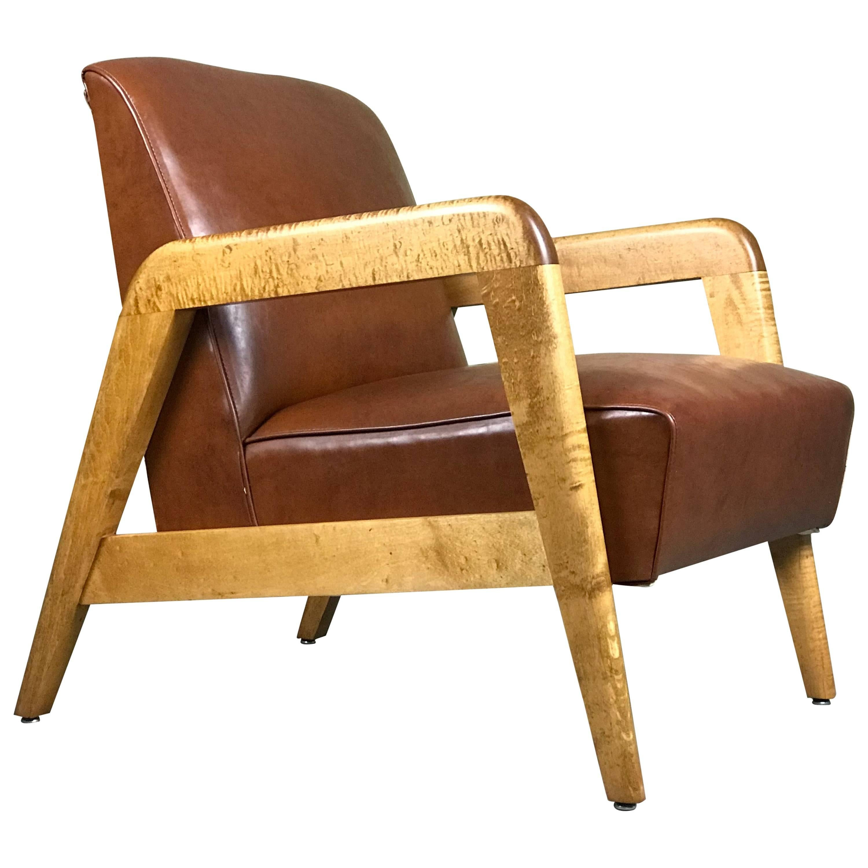 Early Mid Century Modern Lounge Chair By Russel Wright For Thonet