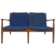 Arne Vodder Danish Teak Love Seat Sofa, circa 1960s