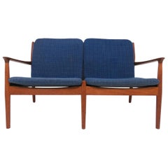 Arne Vodder Danish Teak Loveseat Sofa, circa 1960s