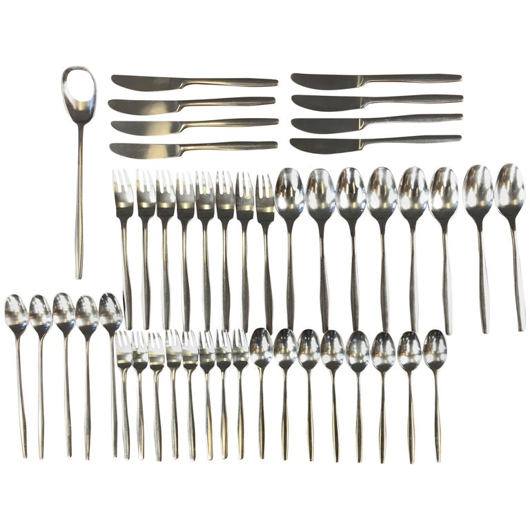 "Jens Quistgaard for Dansk ""Variation V"" Flatware Service for Eight"