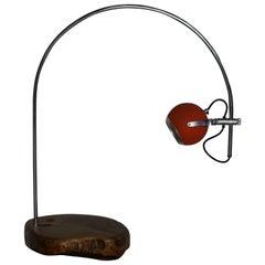 Eye Ball Lamp Arc on Olive Wood