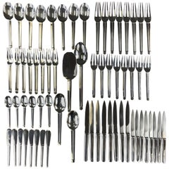 """Puiforcat """"Guethary"""" Flatware Service for Eight"""
