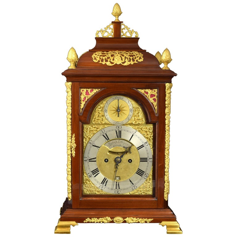 Desktop Bracket Clock, John Drury, London, 1720- 1774 For Sale